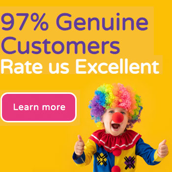 97% Genuine customers rate us excellent