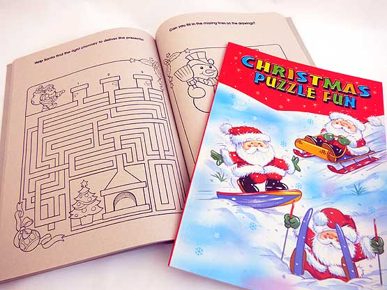 Large Christmas Puzzle Book