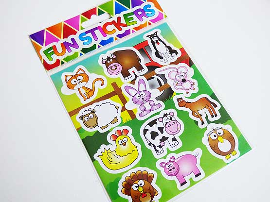 Funky Farm Sticker Sheet