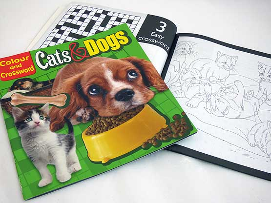 Cats & Dogs Colour and Crossword