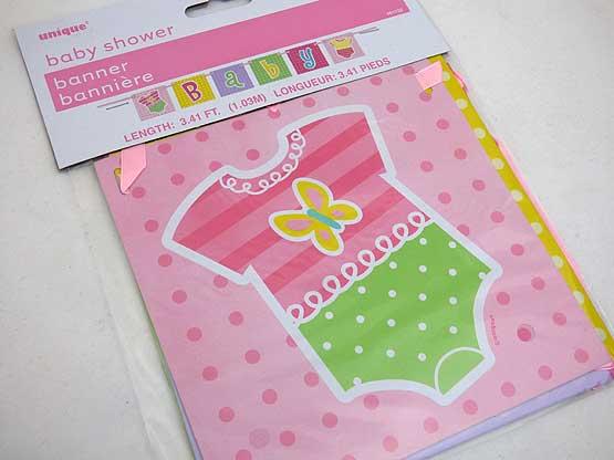 Baby Shower Banner - Girl