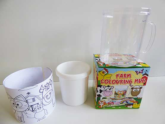 Funky Farm Colouring Mug