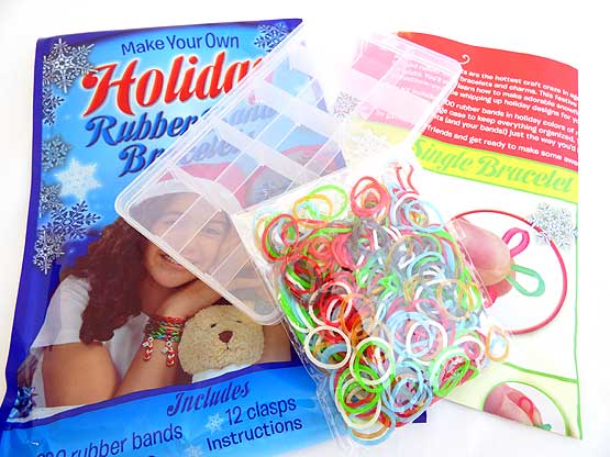 Christmas Glow in the Dark Rubber Band Bracelet Kit